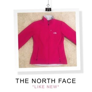 North Face Pink Zip Up Warm Jacket Medium